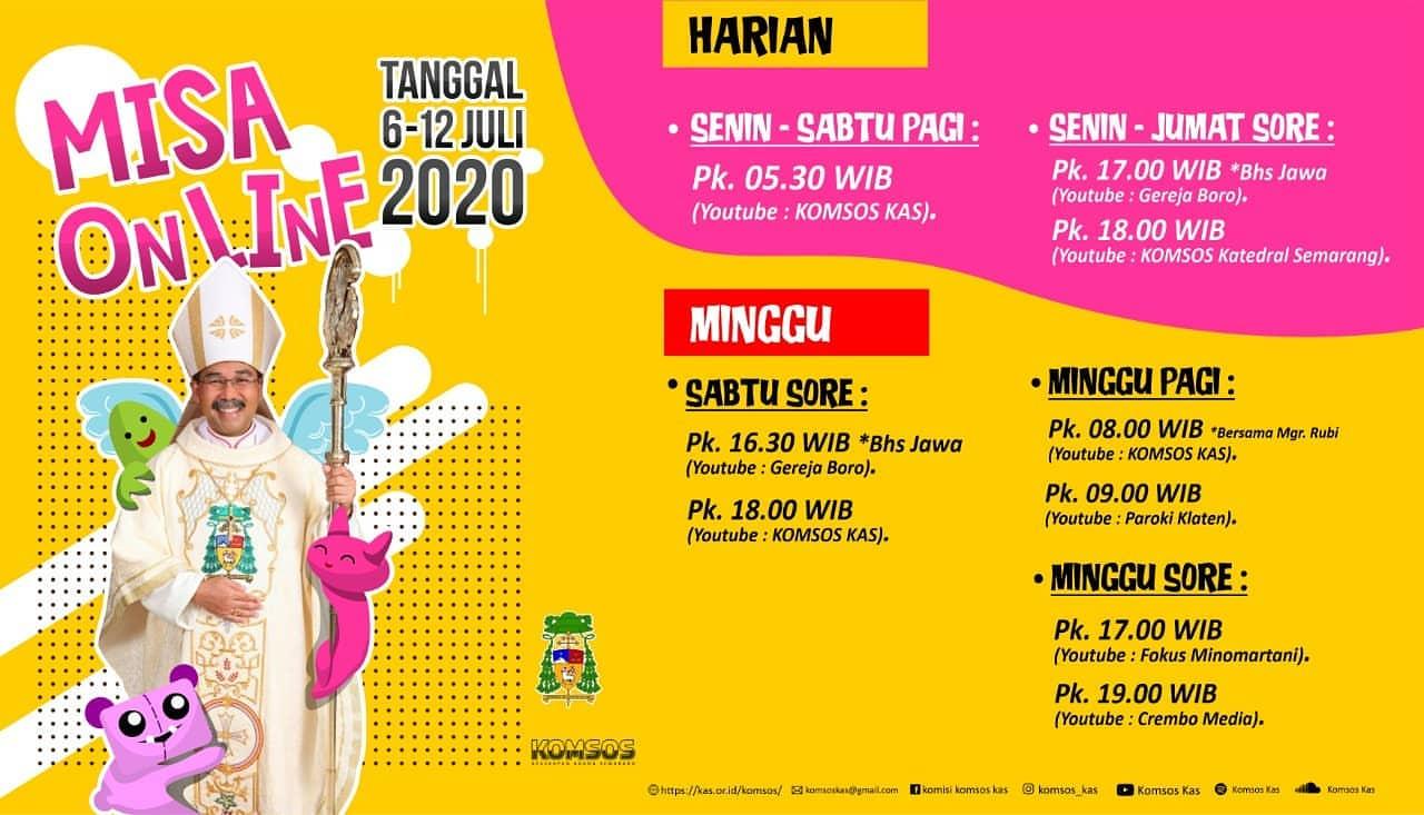 """Read more about the article Informasi Jadwal """"Live Streaming"""" dan """"Relay"""" Radio Misa Harian dan Mingguan periode 6 – 12 Juli 2020"""
