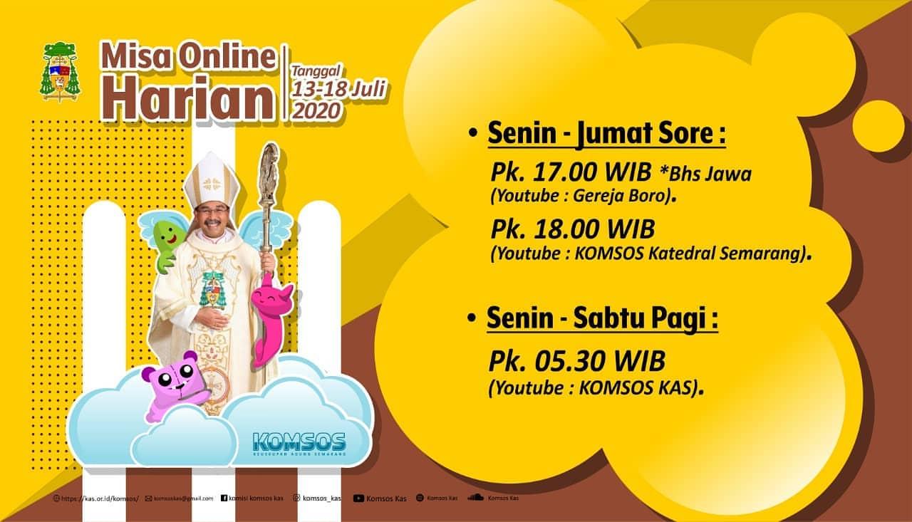 """Read more about the article Informasi Jadwal """"Live Streaming"""" dan """"Relay"""" Radio Misa Harian periode 13 – 18 Juli 2020"""