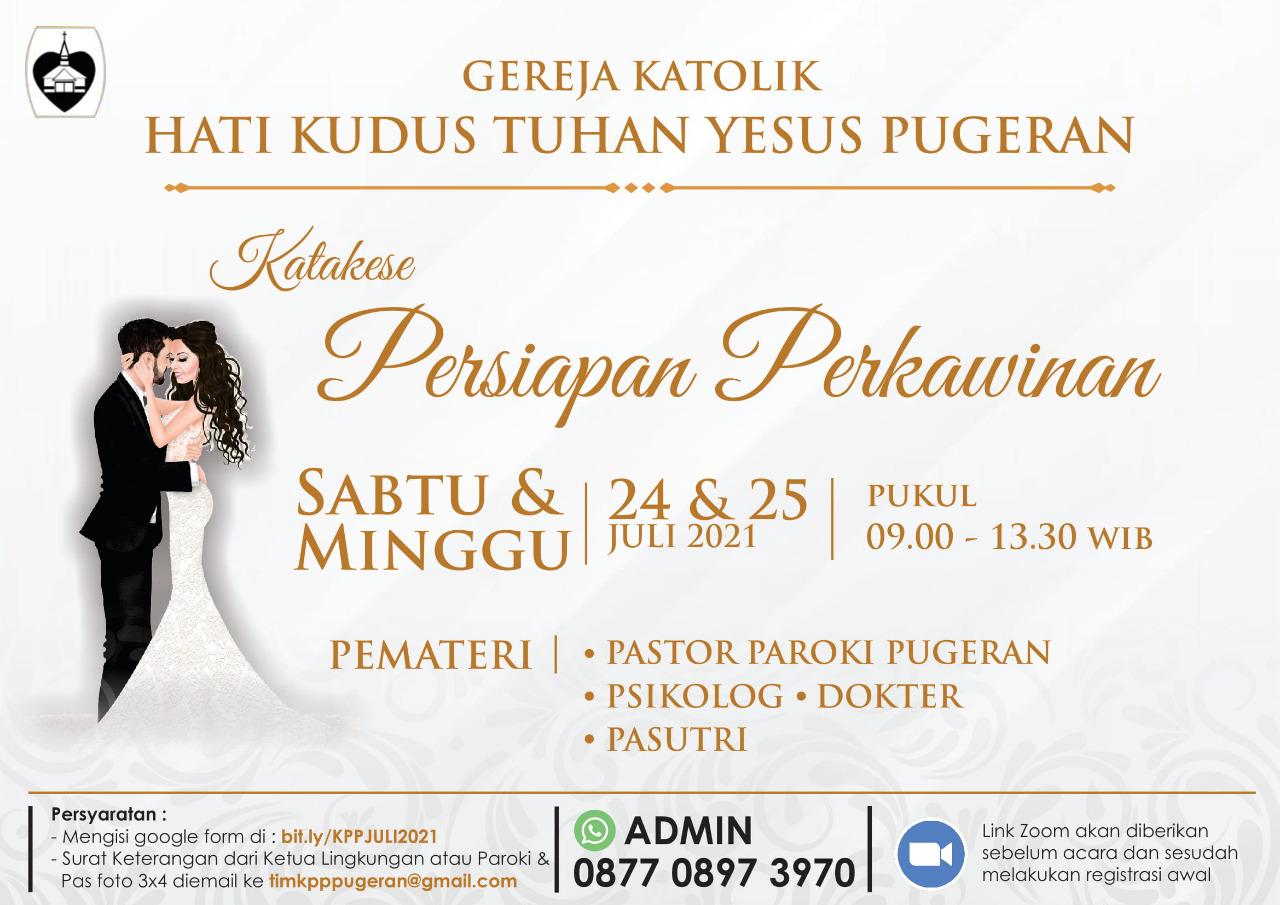 Read more about the article Katakese Persiapan Perkawinan Bulan Juli 2021
