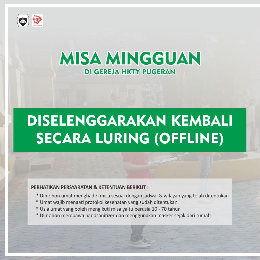 Read more about the article Jadwal Misa Harian dan Mingguan Paroki HKTY Pugeran selama PPKM Tahun 2021
